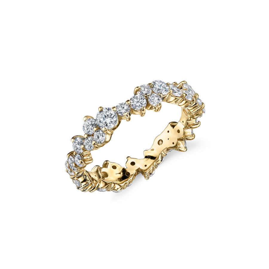 Yellow-Gold & Diamond Cocktail Eternity Ring