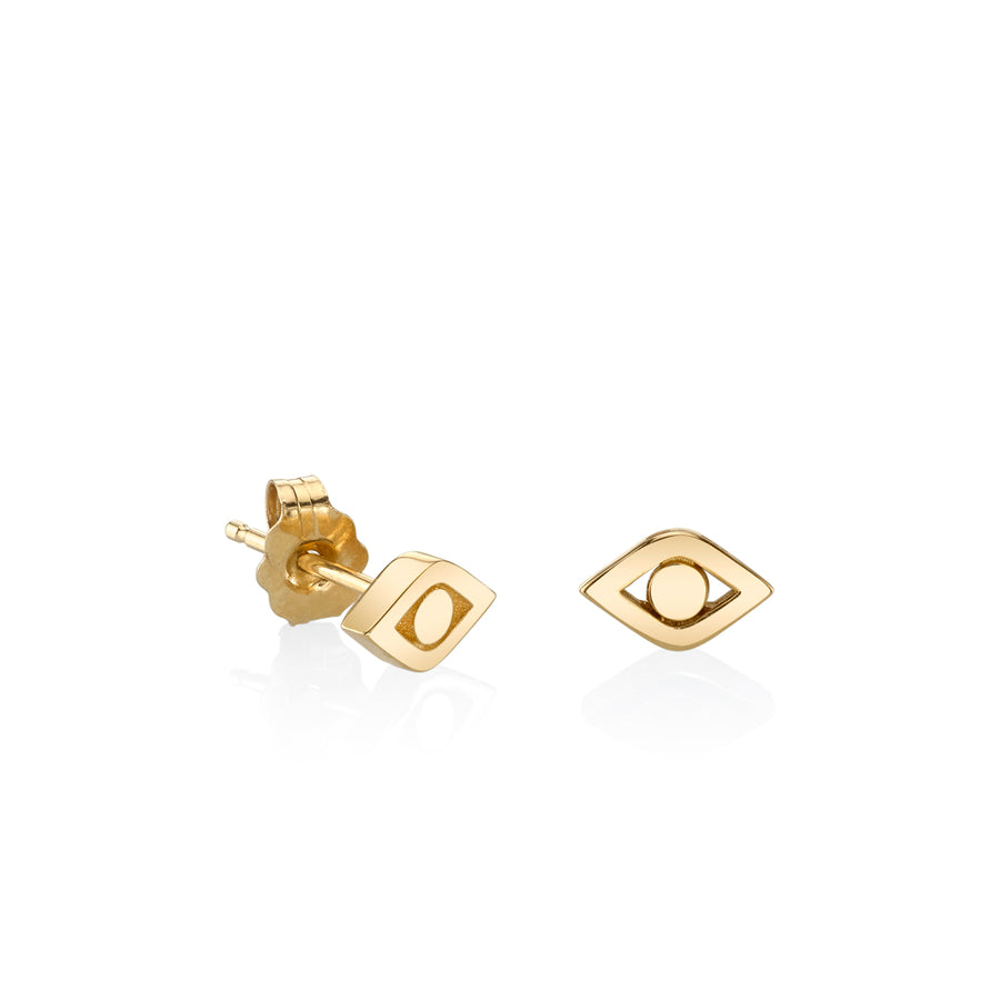 Gold Pure Evil Eye Studs