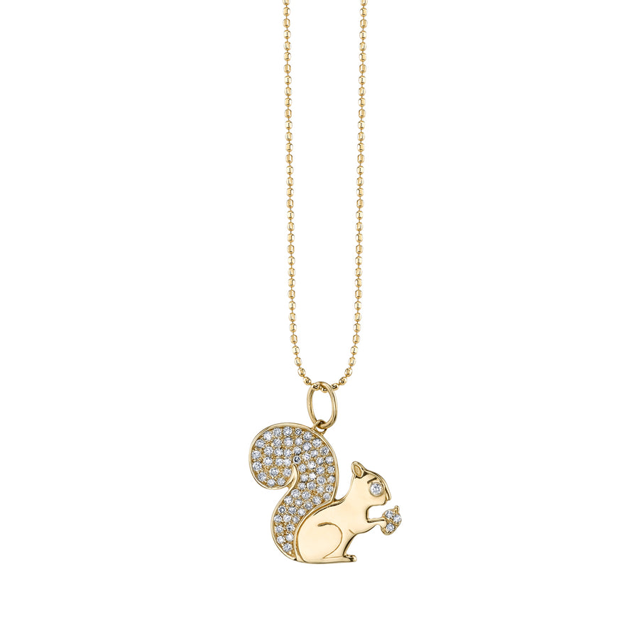 Yellow-Gold & Diamond Squirrel Necklace