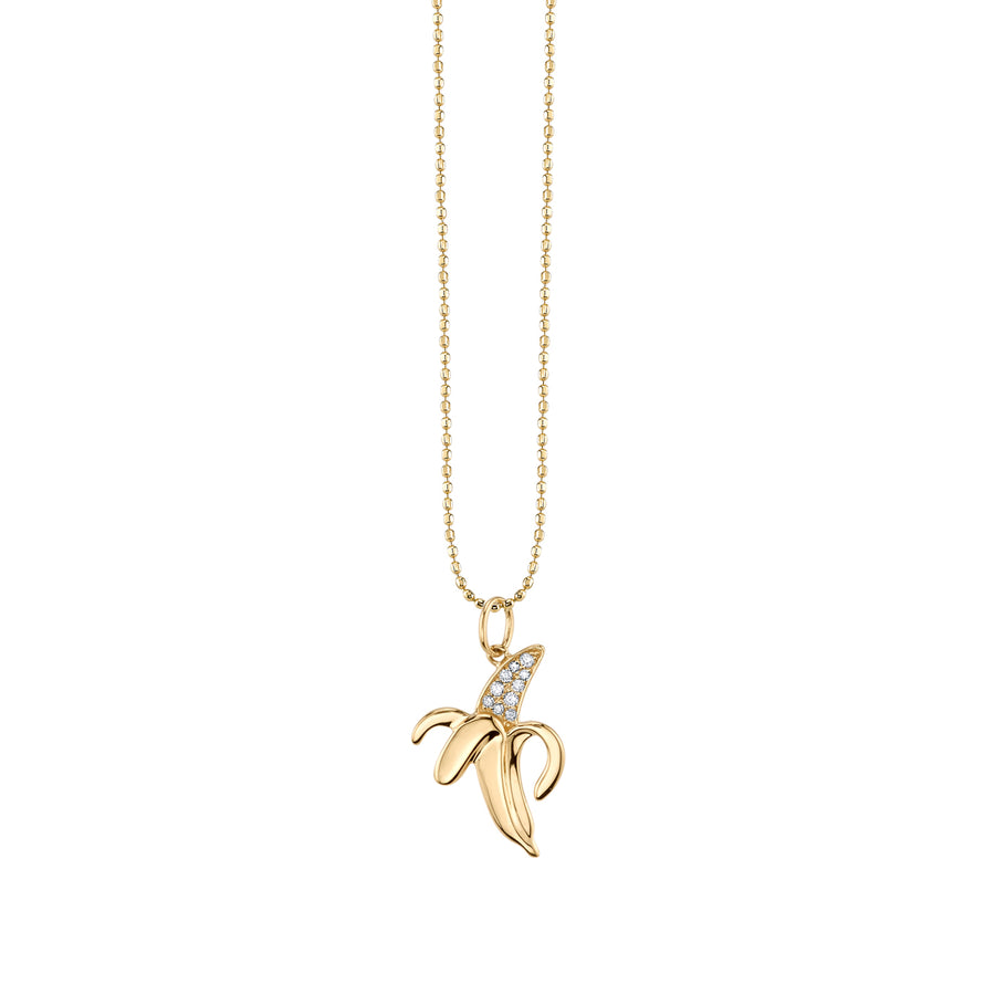 Yellow-Gold & Diamond Banana Necklace