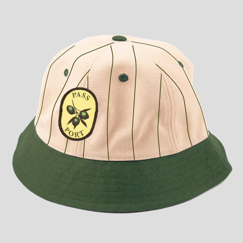 Pass-Port Olive Stripe 6 Panel Bucket Cap Various Colors