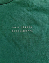 Load image into Gallery viewer, Rose Street Skateshoppe Tee Forest Green