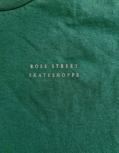 Rose Street Skateshoppe Tee Forest Green