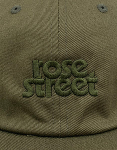 Rose Street Stacked Logo Hat Olive