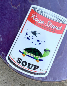 Rose Street Moms Soup Can Red