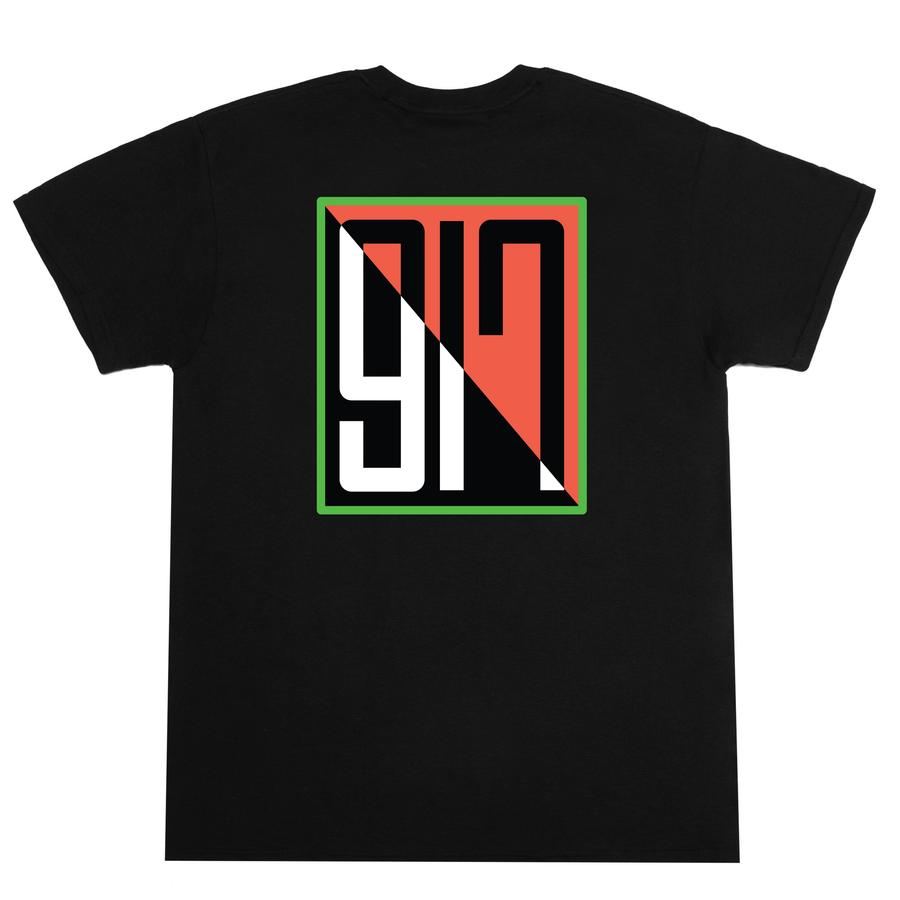 Call Me 917 Split Tee Black