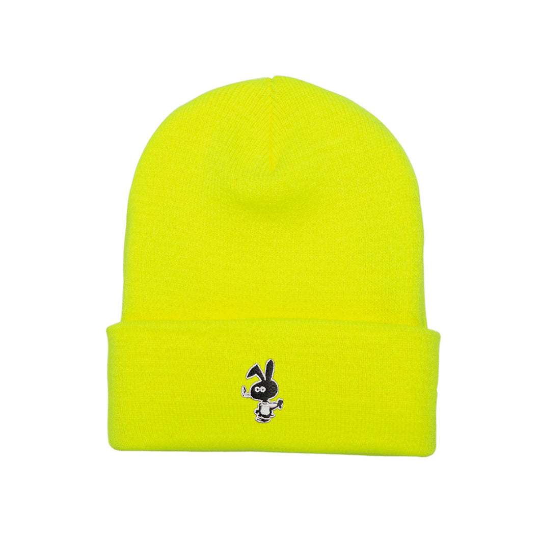 Cold World Cold Bunny Beanie Safety Yellow
