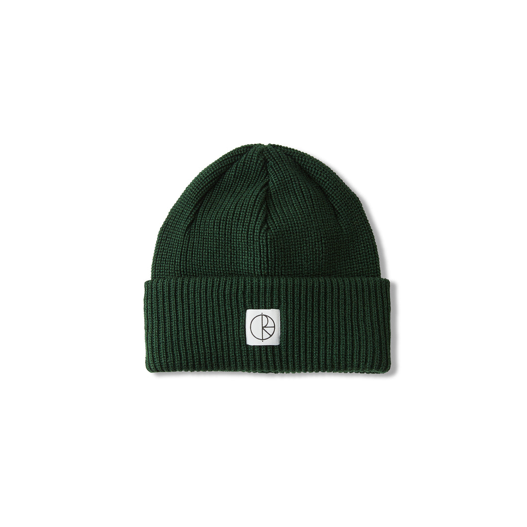 POLAR Double Fold Beanie Merlino Drk Green