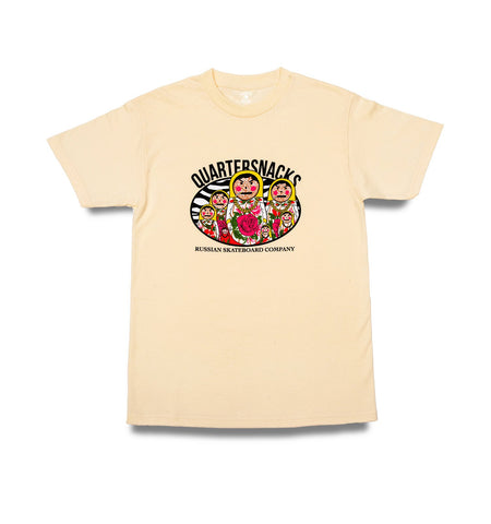 Quartersnacks Russian Doll Tee Cream