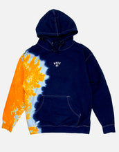 Load image into Gallery viewer, Rose Street Arc Logo Tie Dye Hoodie Dark Navy