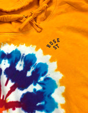 Load image into Gallery viewer, Rose Street Arc Logo Tie Dye Hoodie Yellow