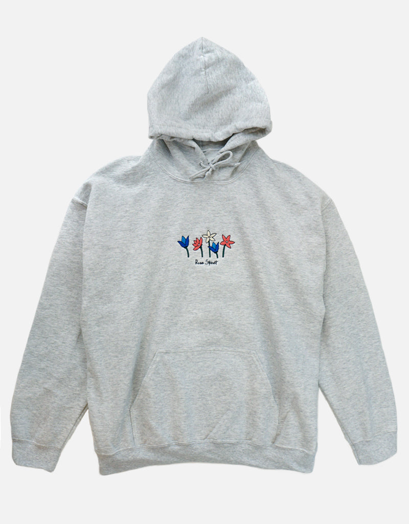 Rose Street May Flowers Hoodie Ash Gray