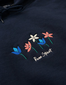 Rose Street May Flowers Hoodie Navy