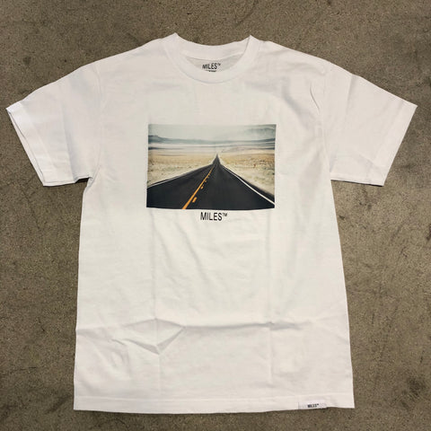 Miles Hit The Road Tee White