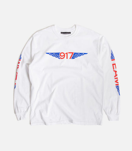 Call Me 917 Team Wings L/S Tee White
