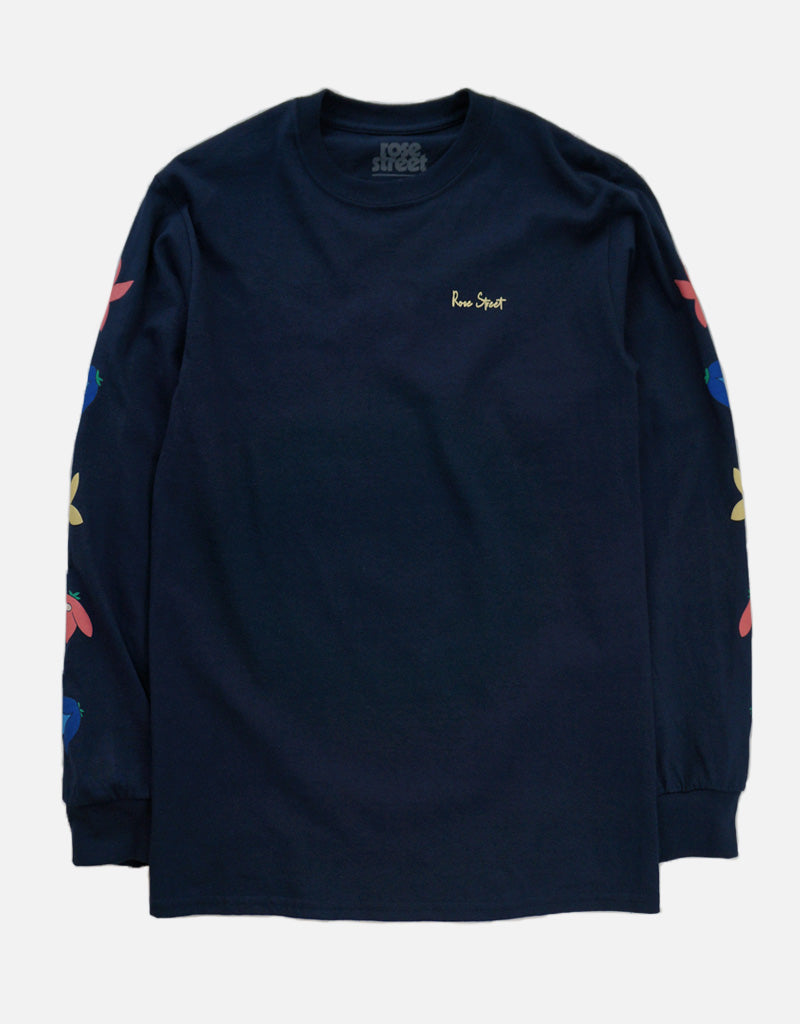 Rose Street May Flowers Long Sleeve Navy