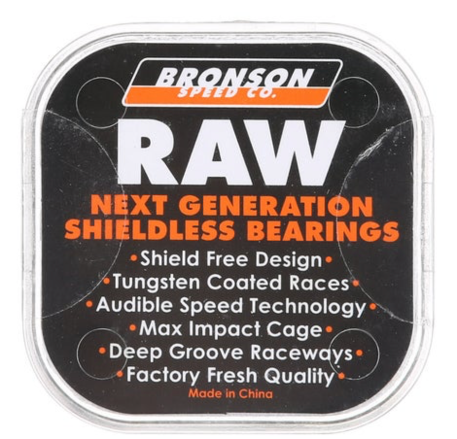 Bronson RAW Shieldless Bearings