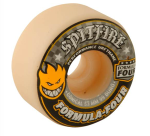 SPITFIRE F4 Conical 99A 53MM White/Yellow/Black