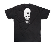 Load image into Gallery viewer, Black Label Thumb Head 1988 Tee Black