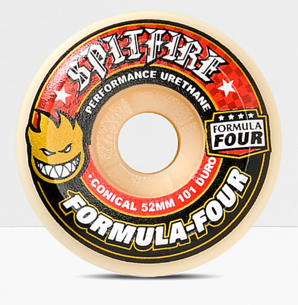 SPITFIRE F4 Conical Full 101A 53MM White/Red