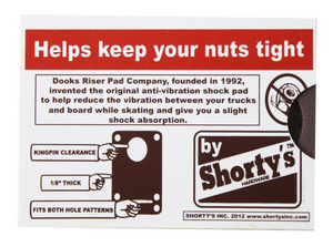 Shortys Dooks Shock Pads 1/8 Brown