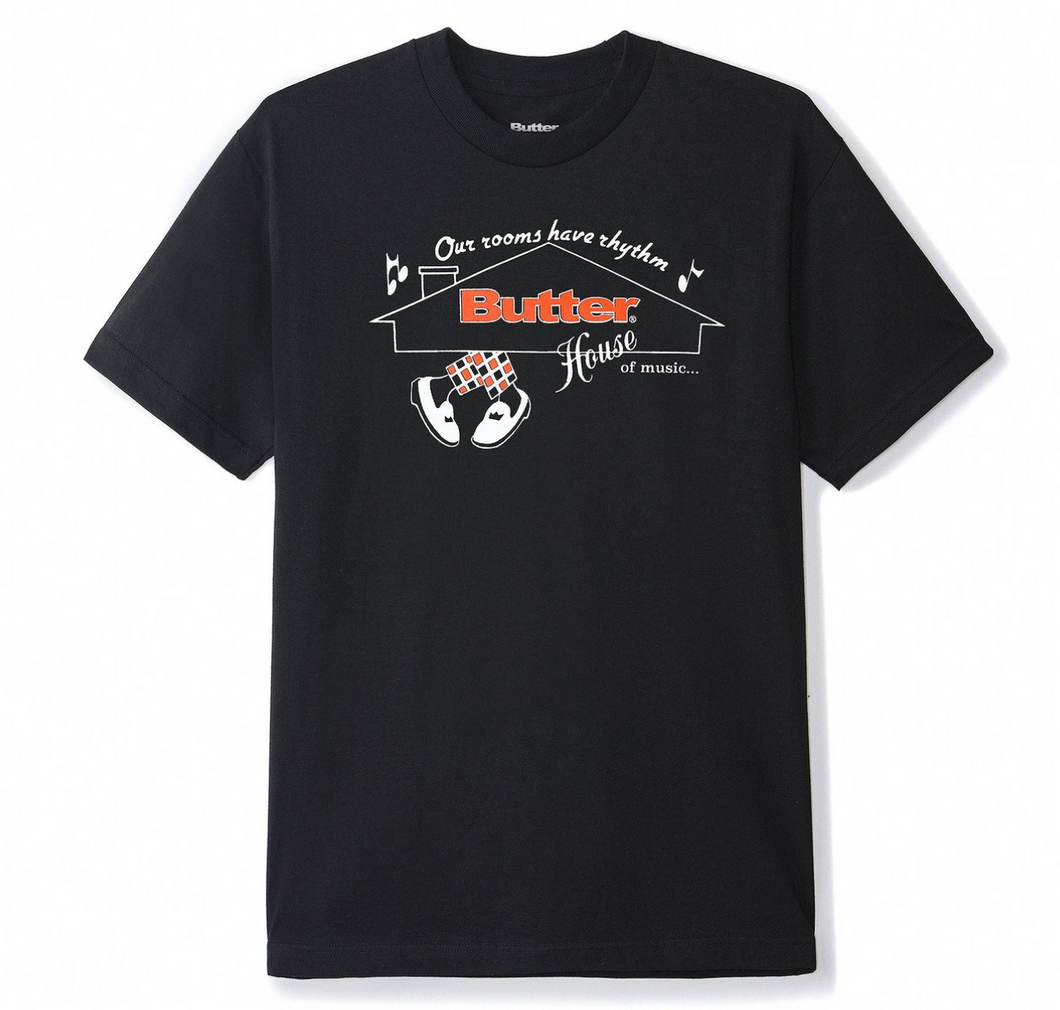 Butter House Of Music Tee Black