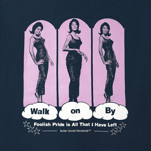 Butter Walk On By Tee Navy