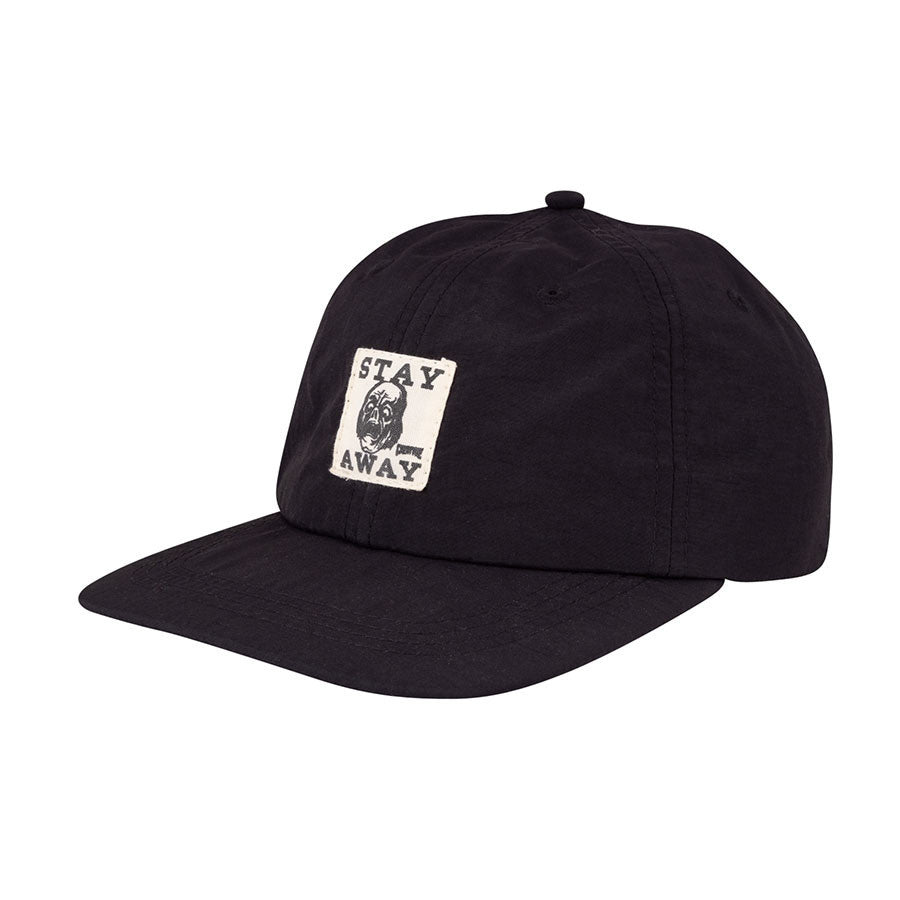 Stay Away Strapback Unstructured Low Hat Black OS Mens Creature