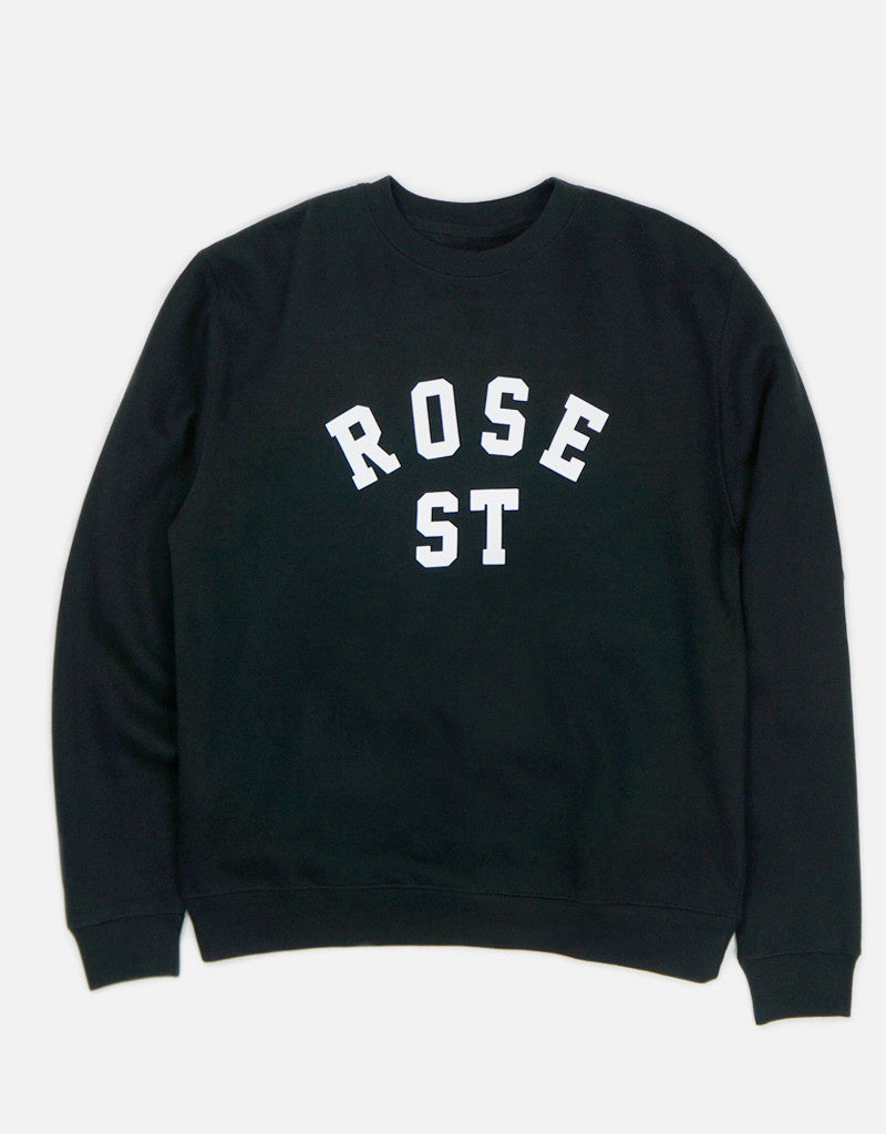 Rose Street Arc Logo Crew Black