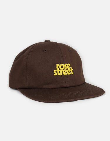 Rose Street Stacked Logo Hat Brown