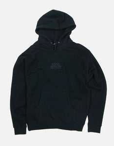 Rose Street Emb Stacked Logo Hoodie Black