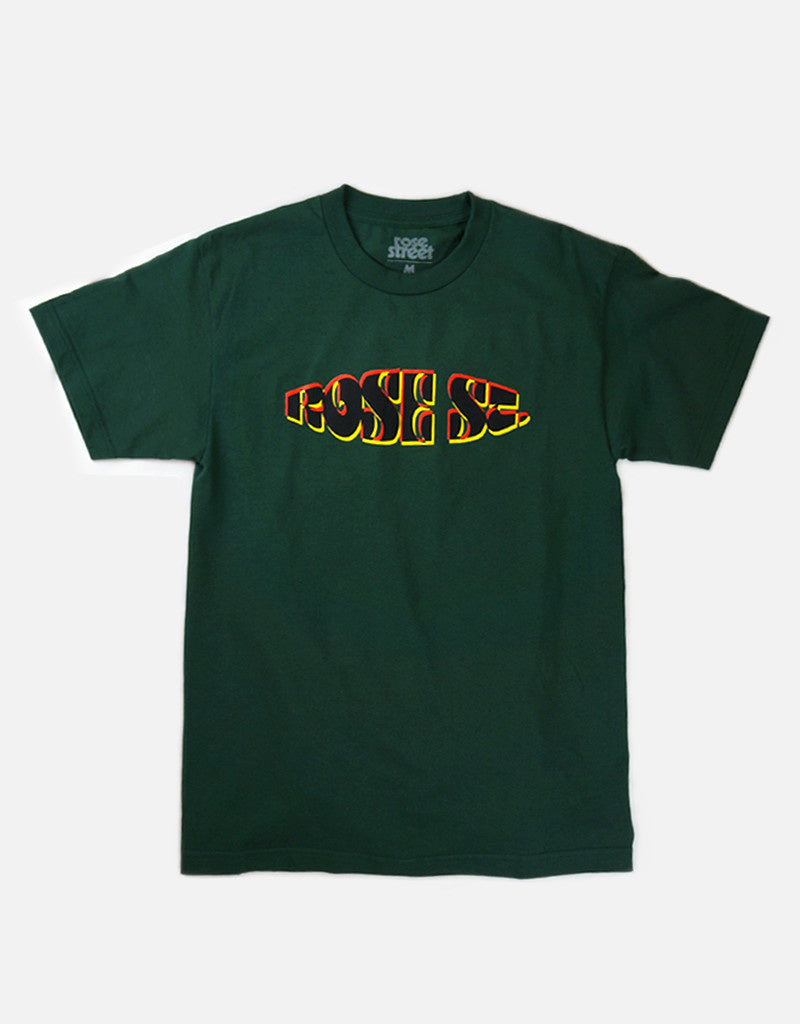 Rose Street Robust 3D Tee Forest Green