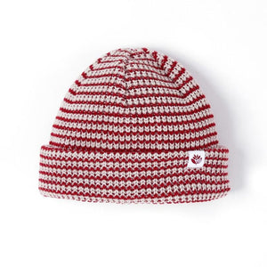 Magenta Striped Low Beanie Assorted