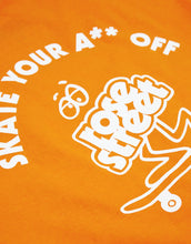 Load image into Gallery viewer, Rose Street Skate Your A** Off Youth Tee Orange