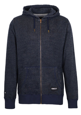 Denim Zip Hooded Sweat