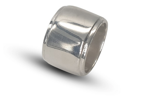 Ladies Sterling Silver Wide Band Dress Ring - Lobola Jewels