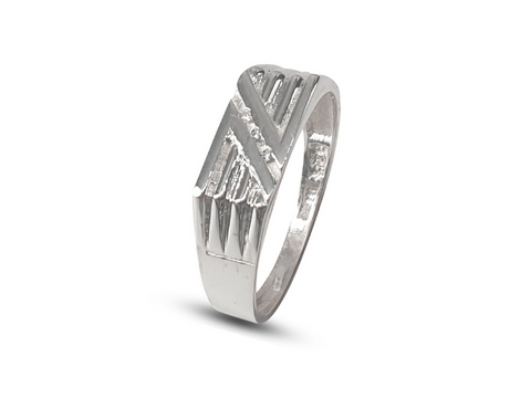 Men's Sterling Silver Double Groove Ring Fashion Ring - Lobola Jewels