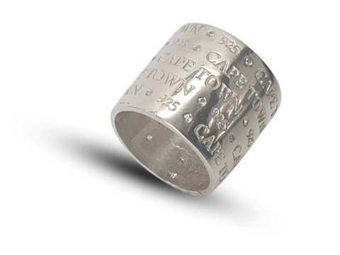 Ladies Sterling Silver Wide Band With Personalization Options - Lobola Jewels
