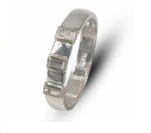 Ladies two-tone sterling silver dress ring with 9k gold