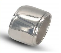 Ladies sterling silver wide band