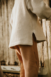 Tie the knit sweater