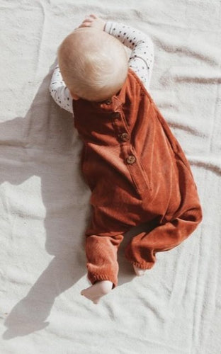 Button back baby rib onesie