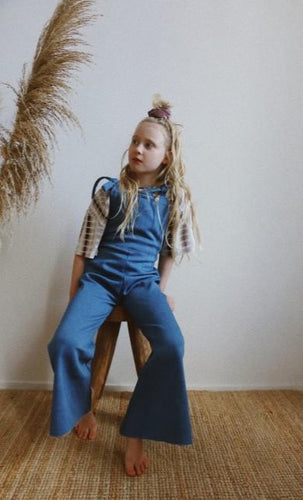 Blue sky dungarees