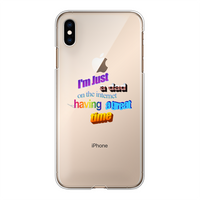I'm Just a Dad On The Internet Having A Great Time Back Printed Transparent Hard Phone Case