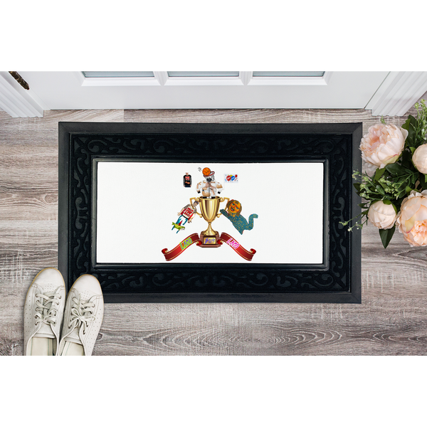 Lago Boys Coat of Arms Sublimation Heavy Duty Door Mat