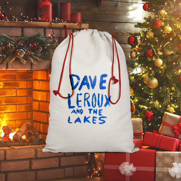 Dave Leroux And The Lakes Sublimation Linen Drawstring Sack