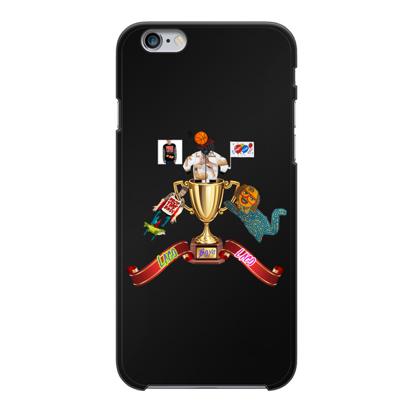Lago Boys Coat of Arms Back Printed Black Hard Phone Case