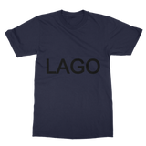 LAGO BLACK Classic Adult T-Shirt Printed in UK