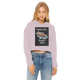 Healey Lake Regatta 2020 Ladies Cropped Raw Edge Hoodie