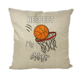 Respect My Game Throw Pillows